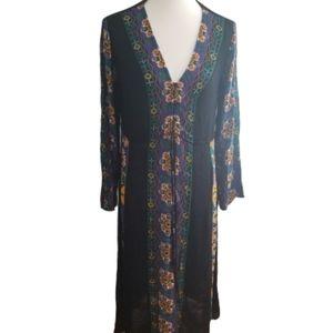    BOOHOO    Size 6 Boho Long Sleeve Maxi Dress